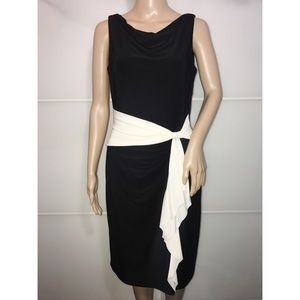 Lauren Ralph Lauren B&W Formal Dress